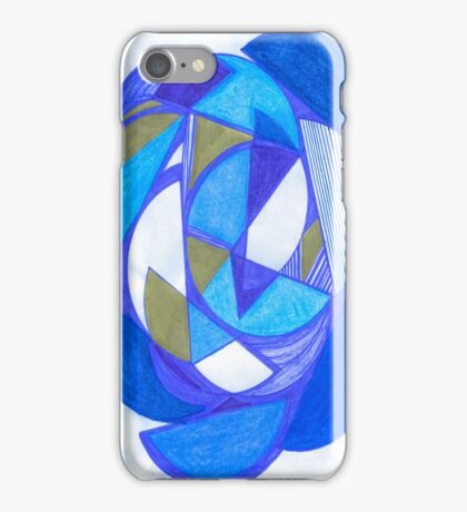 Blue Circles iPhone Case/Skin