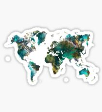 World Map tree Sticker