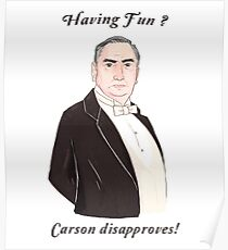 Carson Disapproves!  Poster