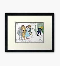 Forex wizard of Oz cartoon Framed Print