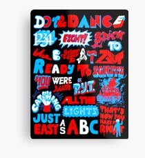 Justice DANCE Lyrics by So Me Metal Print