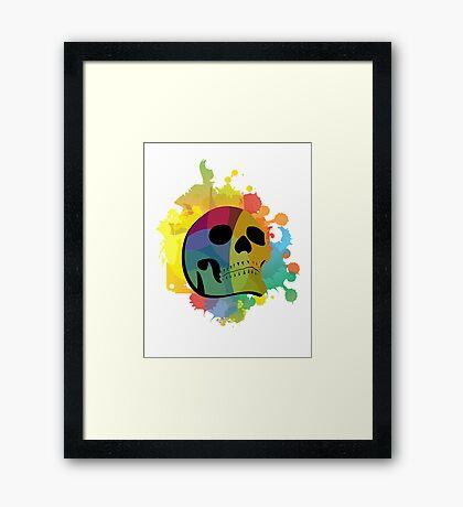 Skull White Framed Print