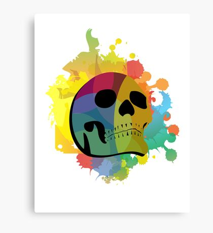 Skull White Canvas Print