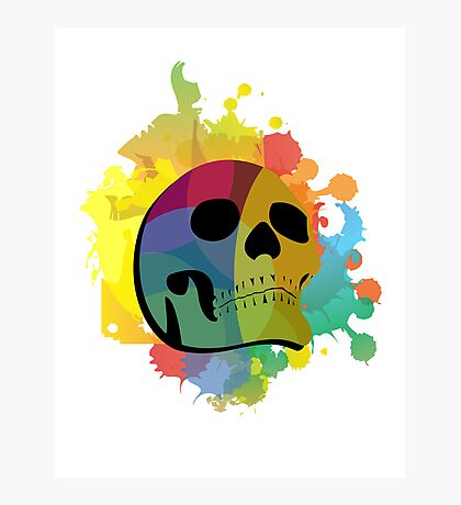 Skull White Photographic Print