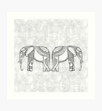 Indian Elephants Art Print