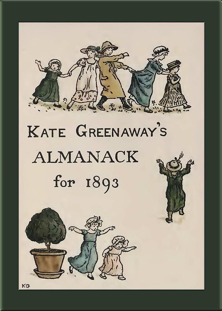 Greetings-Kate Greenaway-Almanack Cover 1893 by Yesteryears