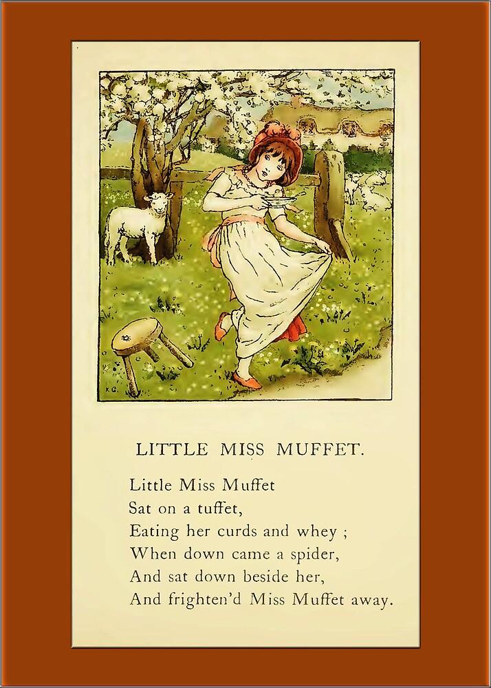 Greetings-Kate Greenaway-Miss Muffet by Yesteryears