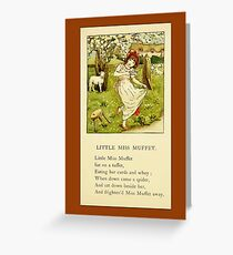 Greetings-Kate Greenaway-Miss Muffet Greeting Card