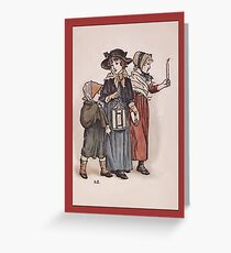 Greetings-Kate Greenaway-Evening Stroll Greeting Card