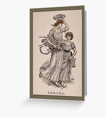 Greetings-Kate Greenaway-Spring Greeting Card