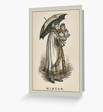 Greetings-Kate Greenaway-Winter Greeting Card