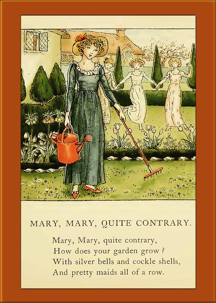Greetings-Kate Greenaway-Mary, Mary by Yesteryears