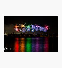 Aus Day Fireworks Photographic Print