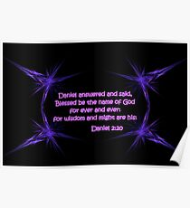 Blessed Be The Name of God Poster