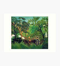 Henri Rousseau - Exotische Landschaft Kunstdruck