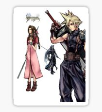 Dissidia 012 Reports Final Fantasy Characters Sticker