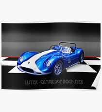 Lister - Cambridge Roadster Poster