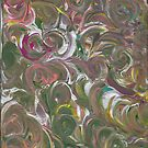 NEON SWIRLS ON CANVAS by karen66