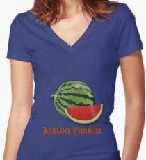 Melon Farmer Women's Fitted V-Neck T-Shirt