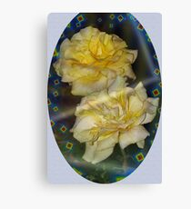 Emblematic yellow roses Canvas Print