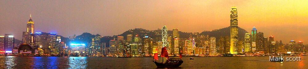 hong kong harbour by Mark Walker