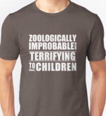 Zoologically Improbable { White Text } Unisex T-Shirt