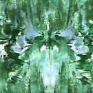 GREEN AND BLUE ABSTRACT MANDALA by karen66