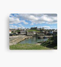 Harbour at Portsoy, Scotland Canvas Print