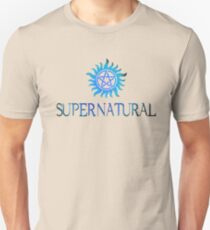 Supernatural logo in BLUE Unisex T-Shirt