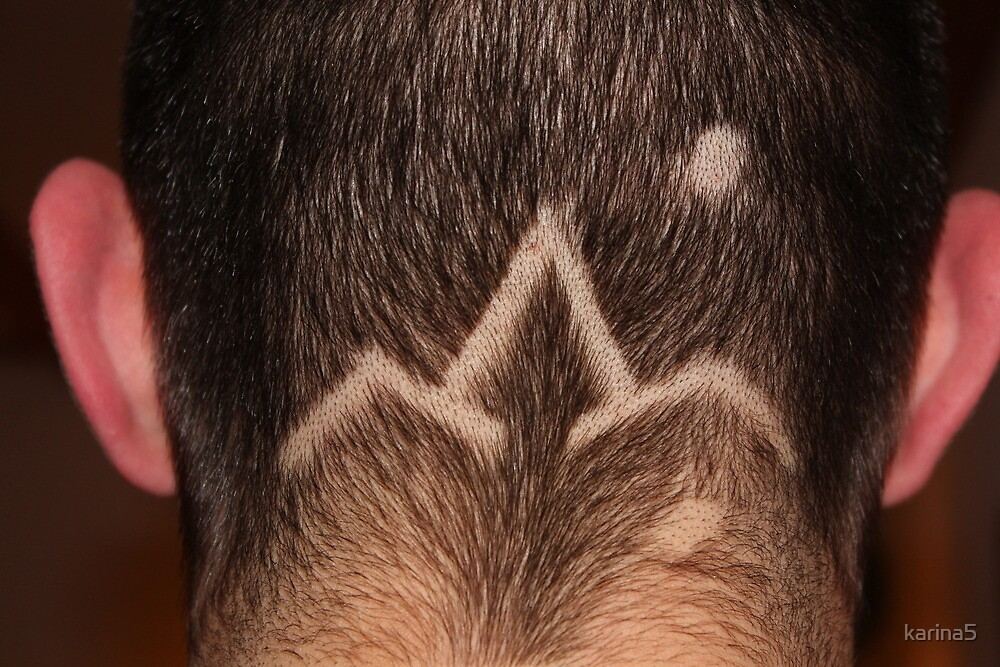 Map at the Back of the Head: Germany - the Alps - Verona by karina5