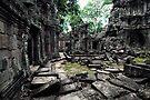 Library, Ta Prohm, Cambodia by Michael Treloar