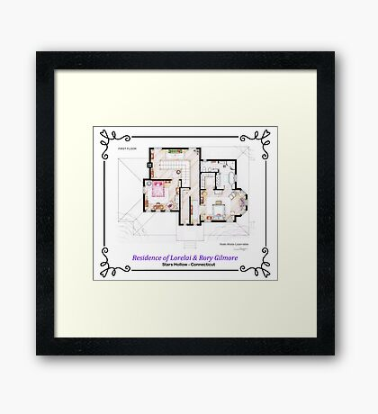 House of Lorelai & Rory Gilmore - First Floor Framed Print