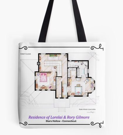 House of Lorelai & Rory Gilmore - First Floor Tote Bag