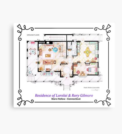 House of Lorelai & Rory Gilmore - Ground Floor Metal Print