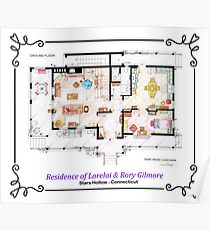 House of Lorelai & Rory Gilmore - Ground Floor Poster