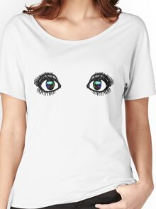 Eyes Tee Color Women's Relaxed Fit T-Shirt