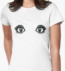 Eyes Tee Color Womens Fitted T-Shirt