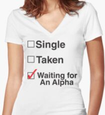 TEEN WOLF - WAITING FOR AN ALPHA Women's Fitted V-Neck T-Shirt