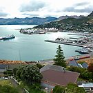 Port at Lyttelton, New Zealand by Dilshara Hill