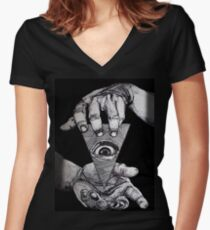 THE THIRD EYE Women's Fitted V-Neck T-Shirt