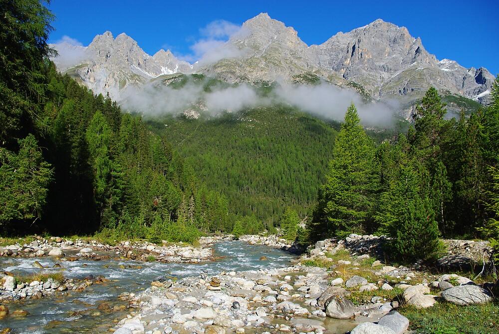 Swiss mountain scenery by Claudio Del Luongo