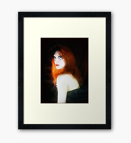 Spoken in Red Framed Print