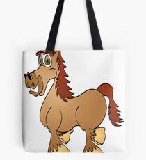 Brown Horse Cartoon Tote Bag