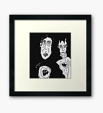 Ironic Superheroes Framed Print