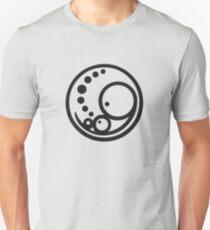 Pregnant Embryo Logo -  Large Black Unisex T-Shirt