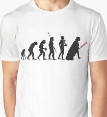 Human evolution Star wars Graphic T-Shirt