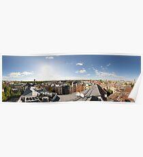 From the birds eye panorama, Riga, Latvia Poster