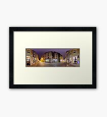 Two ways out panorama, Riga, Latvia Framed Print