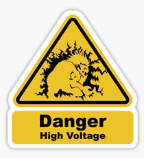 Blanka High Voltage Road Sign from Street Fighter Sticker