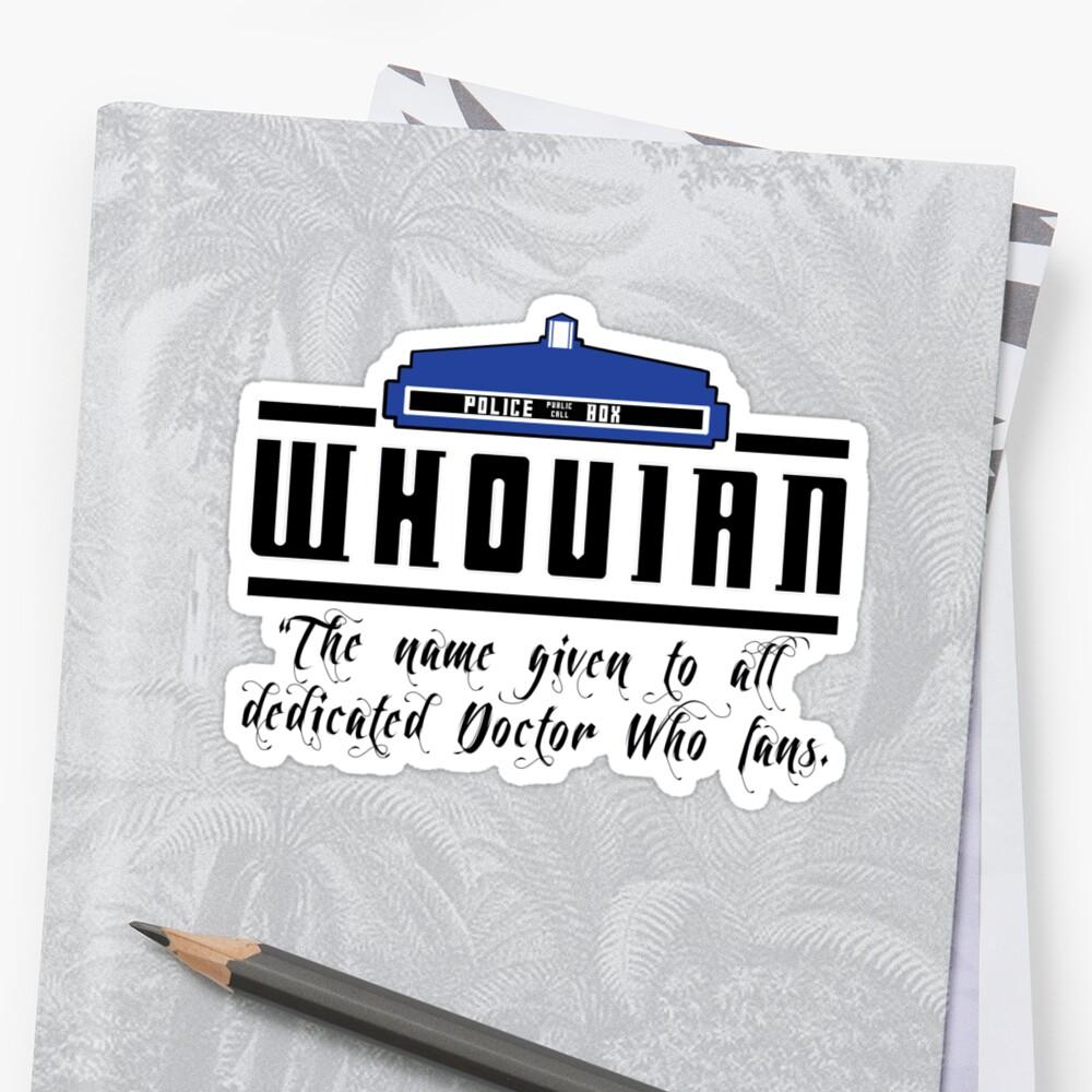 Whovian definition by Ameda Nowlin